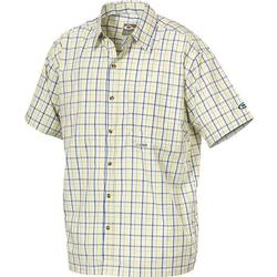 DRAKE WEEKENDER S/S SHIRT YELLOW_BLUE