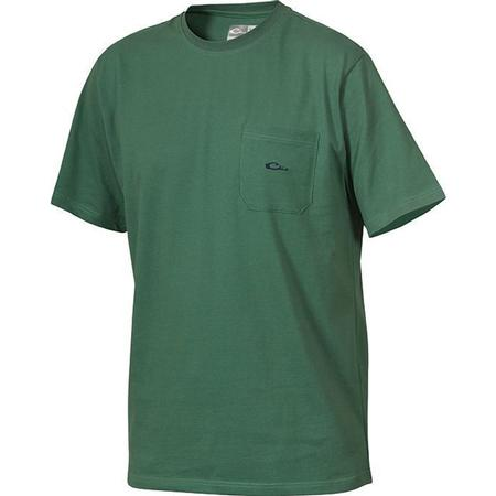 DRAKE COTTON POCKET CREW