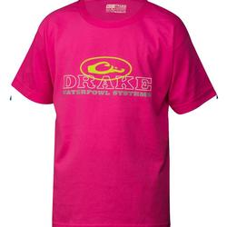 DRAKE YOUTH OVAL S/S T SAFETY_PINK