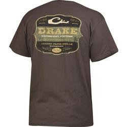 DRAKE PAPER SHELLS S/S T CHARCOAL