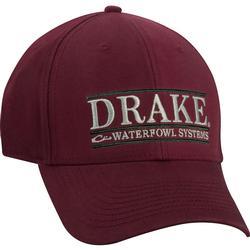 DRAKE BAR LOGO CAP GARNET/GRAY