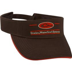 DRAKE OVAL BAR LOGO VISOR CHOCOLATE