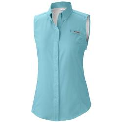 COLUMBIA TAMIAMI WOMEN`S SHIRT CLEAR_BLUE