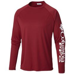 COLUMBIA TERMINAL TACKLE L/S BEET/WHITE