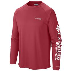 COLUMBIA TERMINAL TACKLE L/S SUNSET_RED