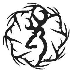 BROWNING SHEDS DECAL WHITE