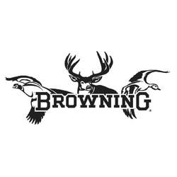 BROWNING ALL SEASONS DECAL WHITE