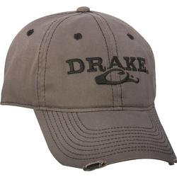 DRAKE SOLID DISTRESSED HAT GREY