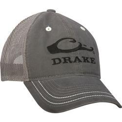 DRAKE MESH BACK LOGO CAP GREY