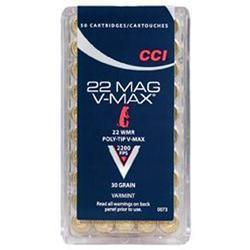CCI 22WMR V-MAX SHELLS 30_GR