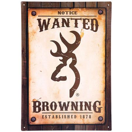 BROWNING WANTED POSTER TIN SIGN