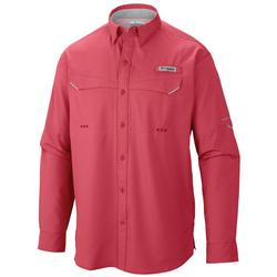 COLUMBIA LOW DRAG OFFSHORE L/S SUNSET_RED