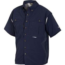 DRAKE COTTON WINGSHOOTER S/S NAVY