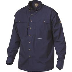 DRAKE COTTON WINGSHOOTER L/S NAVY