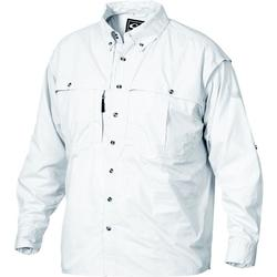 DRAKE COTTON WINGSHOOTER L/S WHITE