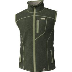 BANDED HEATHERED FLEECE LINED VEST SPANISH_MOSS