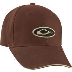 Drake Formed 6-Panel Oval Logo Cap BROWN