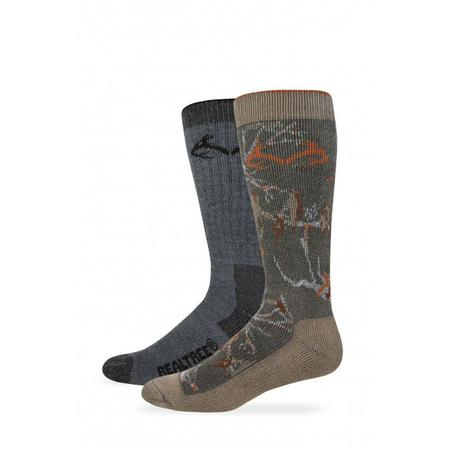 REALTREE 2-PK MERINO WOOL SOCKS