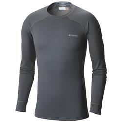 COLUMBIA HEAVYWEIGHT II L/S TOP GRAPHITE/YEL