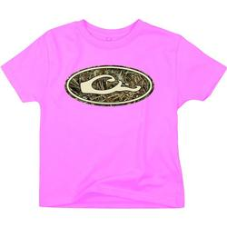 DRAKE YOUTH OVAL CAMO LOGO T PINK