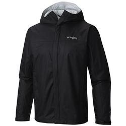 COLUMBIA PFG STORM RAIN JACKET BLACK/GREY