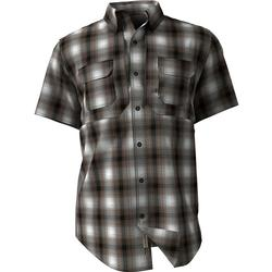 DRAKE WINGSHOOT SMALL CHECK S/S DARK_BROWN