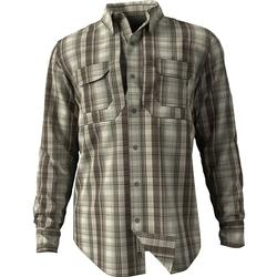 DRAKE WINGSHOO MADRAS PLAID L/S DEEP_OLIVE