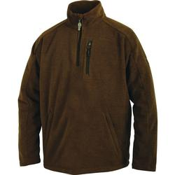 DRAKE MST HEATHERED 1/4 ZIP BROWN