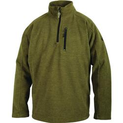 DRAKE MST HEATHERED 1/4 ZIP SAGE