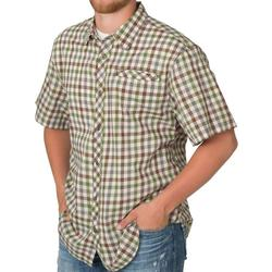 BANDED VENTED DRI-STRETCH S/S STONE_PLAID