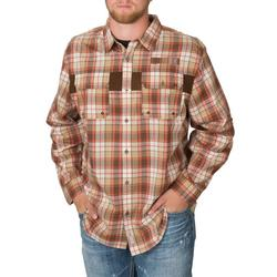 BANDED ADVENTURE VENTED  L/S BROWN_PLAID