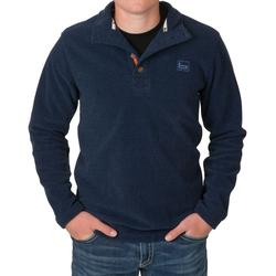 BANDED FIREPIT FLEECE HENLEY MIDNIGHT