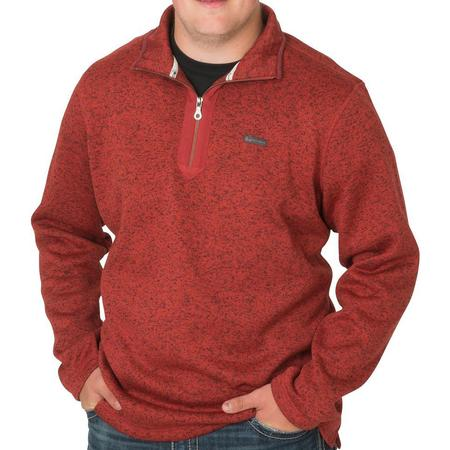 BANDED HEATHER FLEECE 1/4 ZIP