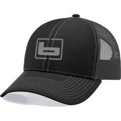 BANDED SIGNATURE TRUCKER CAP BLACK/CHARCO