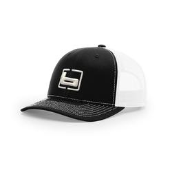 BANDED SIGNATURE TRUCKER CAP BLACK/WHITE