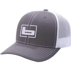 BANDED SIGNATURE TRUCKER CAP CHARCOAL/WHI