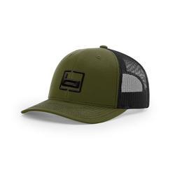 BANDED SIGNATURE TRUCKER CAP LODEN/BLACK