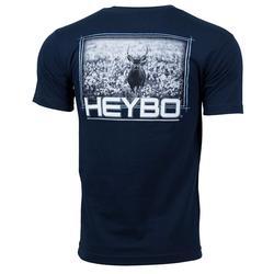 HEYBO DEER IN COTTON S/S TEE NAVY