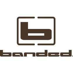 BANDED LOGO VERTICAL DECAL BROWN