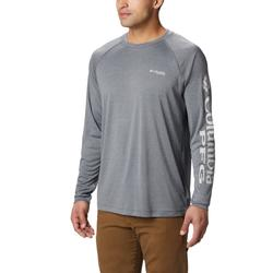 COLUMBIA TERMINAL TACKLE HEATHER L/S CHARCOAL