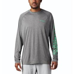 COLUMBIA TERMINAL TACKLE HEATHER L/S CITY_GREY/LIME