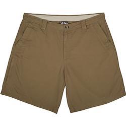 Drake Washed Cotton Canvas Shorts TOBACCO
