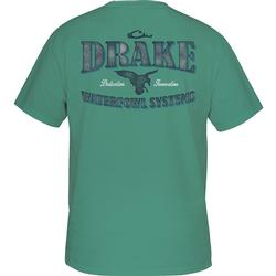 DRAKE WATERFOWL SYSTEMS T-S S/S SEA_BLUE