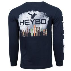 HEYBO DUCK CALLS L/S T-S NAVY