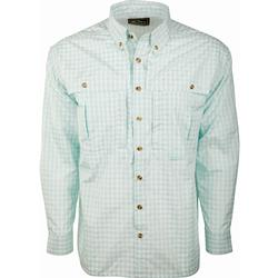 DRAKE FEATHERLITE PLAID L/S AQUA_MARINE_PLAID