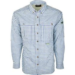 DRAKE FEATHERLITE PLAID L/S BLUE_PLAID