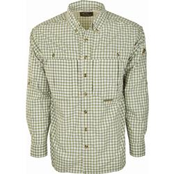 DRAKE FEATHERLITE PLAID L/S GREEN_PLAID