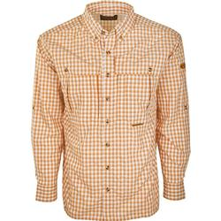 DRAKE FEATHERLITE PLAID L/S ORANGE_PLAID