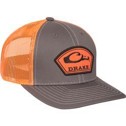 DRAKE ARCH PATCH MESH CAP CHARCOAL/ORANGE