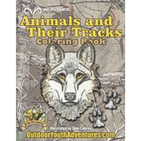 ANIMALS + TRACKS COLORING BOOK